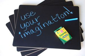 On my Christmas wishlist...  Chalkboard placemats