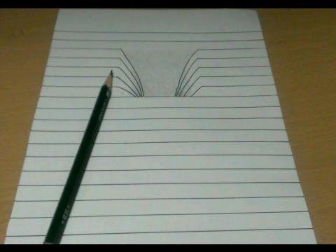 【トリックアート】ノートに穴を開ける方法 Trick Art Drawing - YouTube