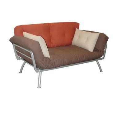 Elite Products Mali-Flex Multi-Positional Twin Futon - Plank/Dusk/Stone