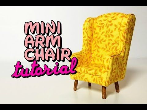 (36) Miniature Upholstered Arm Chair with Free Template (Subscriber Requested) - YouTube