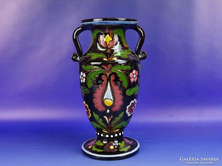 0G319 Régi hibátlan Bozsik váza 25,5 cm