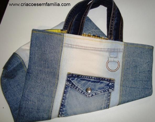 CRiações em família & cia.: Ecobag jeans e o blog Minha mãe sabia