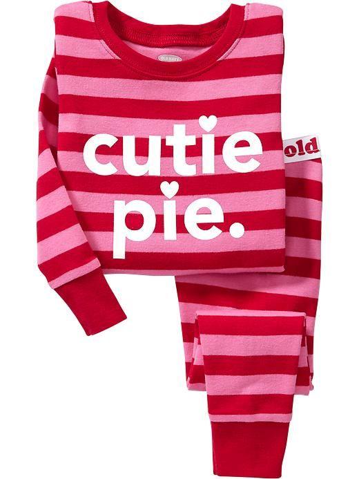 Old Navy Girls Pink/red Stripe Pjs