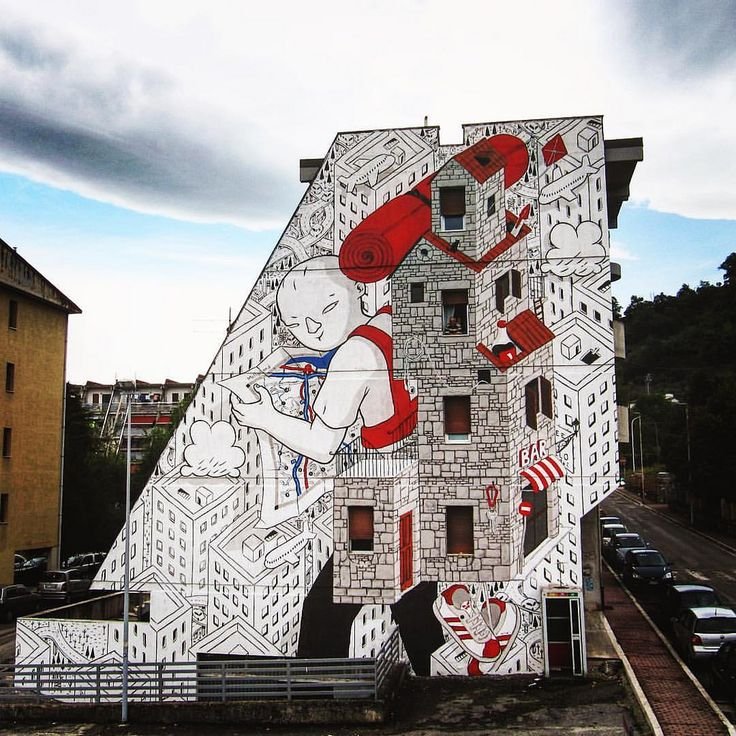 "https://flic.kr/p/NMrZDv | Here is the last work by Millo ""Backpack Home"" in Ascoli Piceno, Italy, for the urban art project Arte Pubblica 2nd edition (9-16 September 2016). These are the words used by the artist to describe his work.  ""This time my character brings with him along"