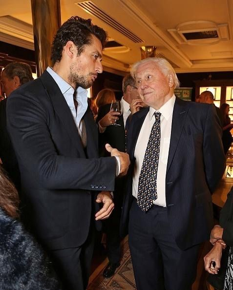 [22/09/15] - David Gandy joins Sir David Attenborough at the screenning of the World Land Trust's 'The Orchid of Banos'