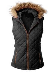 LE3NO Womens Lightweight Quilted Puffer Jacket Vest with Pockets | LE3NO