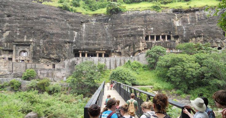 The Ajanta Caves (Masterpieces of Buddhist Religious Art), Aurangabad, Maharashtra, India