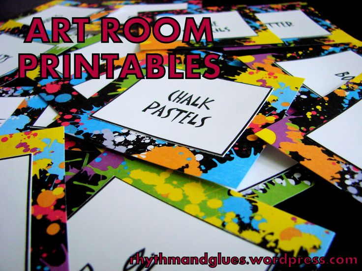 Art Room Printables (Art Bulletin Boards) - Organization and Bulletin Boards!