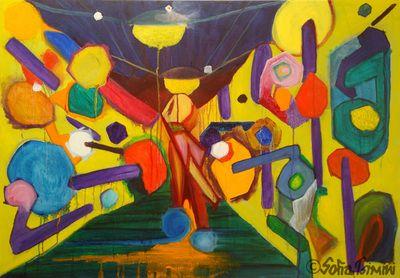 Kapnikarèa, 2013, 100x70cm, oil on canvas #painting by #Sofia #Tsimini