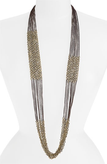 Tasha Long Multi Strand Chain Necklace available at #Nordstrom (Part of Day Look-Paired with Chandelier Earrings)