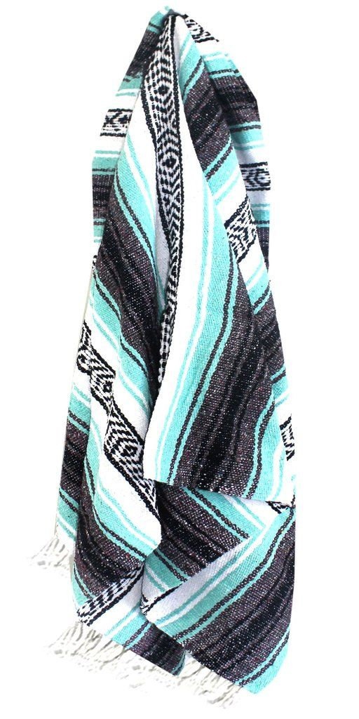 These classic Mexican Baja blankets have been around for generations. Great for everyday use, yoga, beach, or home accent. Made of an acrylic cotton blend, these blankets are machine washable, becomin