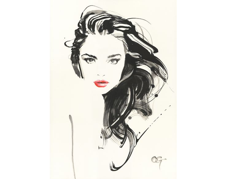 #Miranda_Kerr #OHGUSHI #Fashion_illustration #Cosmetic #portrait_painting #watercolor #india_ink #japanese_ink #Bijinga #墨絵 #水墨画 #美人画