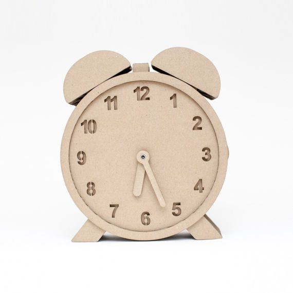 "Clock ""Chrono"" Wall 3D Puzzle DIY Kit Paper recycled sculptur animal wall decor decorative Gift Diy kit original"