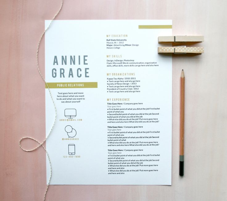 instant download resume letterhead the annie