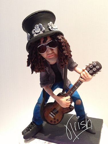 Customised hand sculptured caricature of Slash