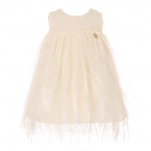 ff864662f Baby Girls Ivory Lace Top Tulle Waterfall Ruffle Flower Girl Dress 6 ...