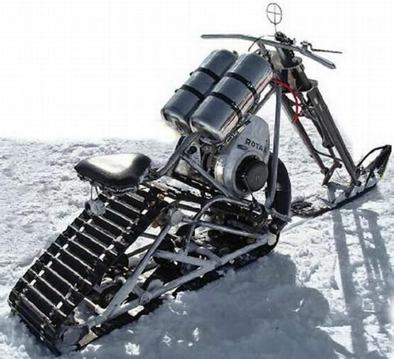 Snowmobile chopper or as we call it Death on snow with chainsaw noises!