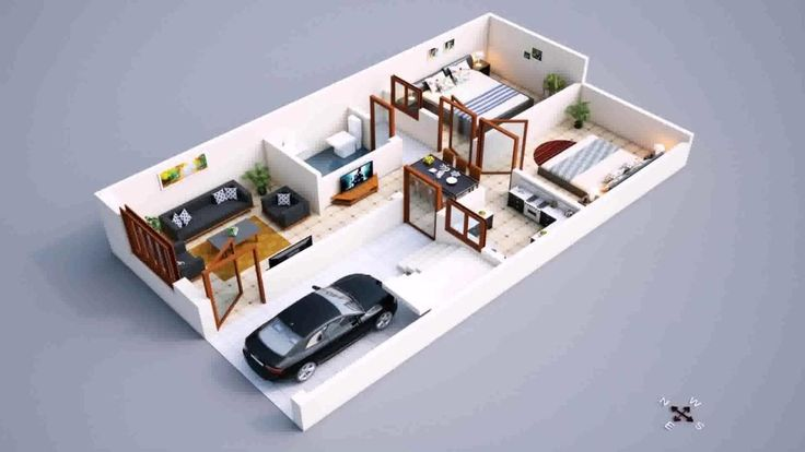 Modern 2018 800 Sq Ft House Plans With Car Parking 800 Sq Ft House 20x30 House Plans Guest House Plans Small house plan with car parking