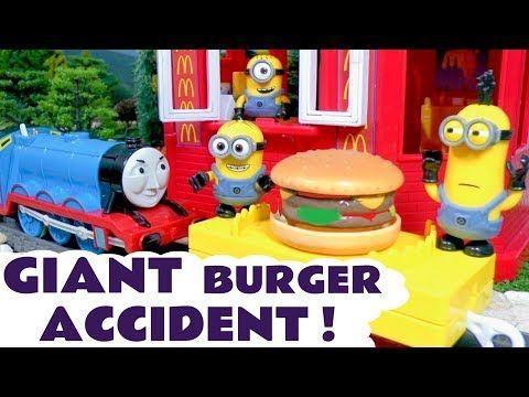 Minions McDonald's Drive Thru Ice Cream Prank with Cars McQueen & Thomas Toy Train Learn Colors TT4U - YouTube