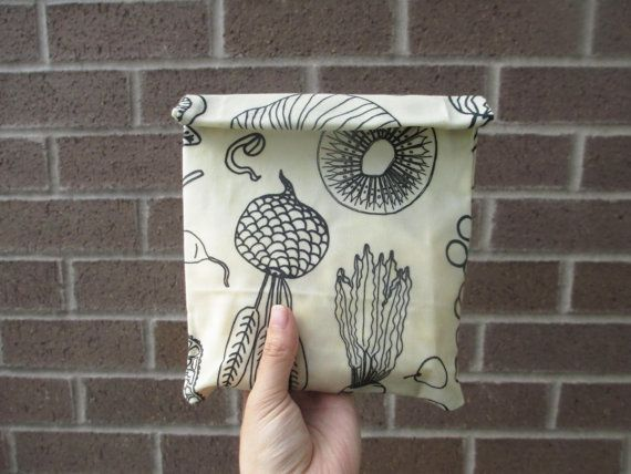 Reusable Beeswax Cloth Snack Bag Beeswax Cotton by AlisaYao