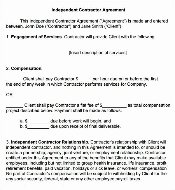 Free Subcontractor Agreement Template Word Best Of Sample Subcontractor Agreement 17 Free Documents Subcontractors Contract Template Product Catalog Template