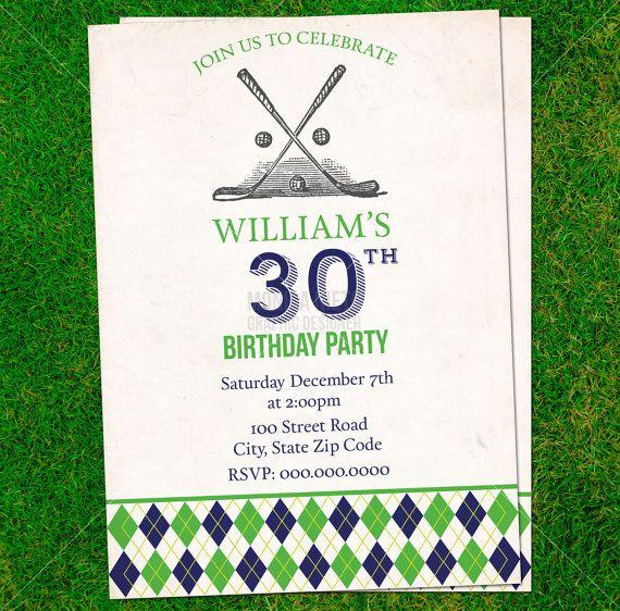 53 best Celebrate Invitations images – Golf Themed Birthday Invitations