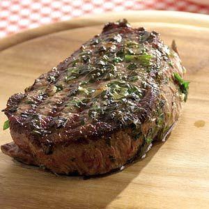 Recept - Biefstuk met kruidenolie - Allerhande