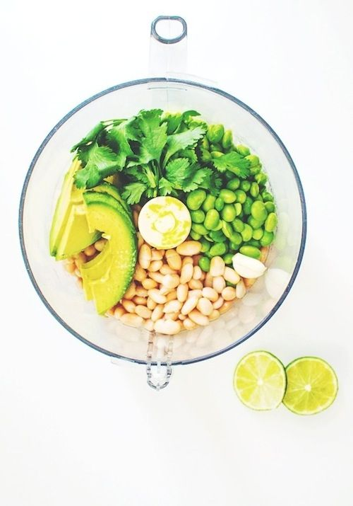 Hip Green Dip | white beans, avocado + edamame. fun healthy appetizer for St. Patrick's Day!