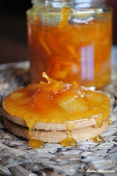 Mermelada de naranja, plátano y ron