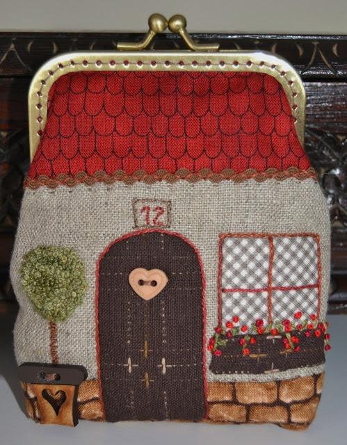 little house bag. Con tela pintada