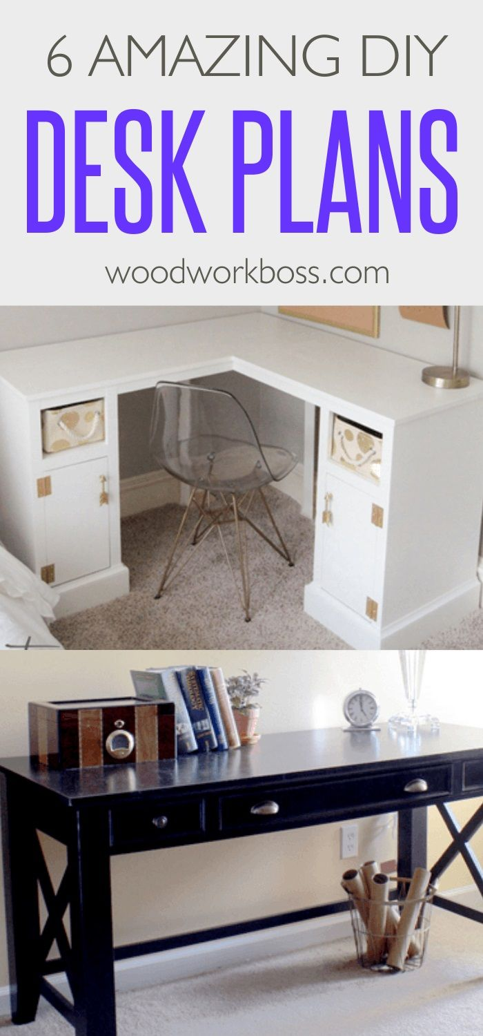 Best DIY Desk Plans / Ideas for Woodworking Desk Plans / Best Simple DIY Desk Plans