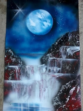 Artist- Rochelle Midro  Fast Spray Paint Art