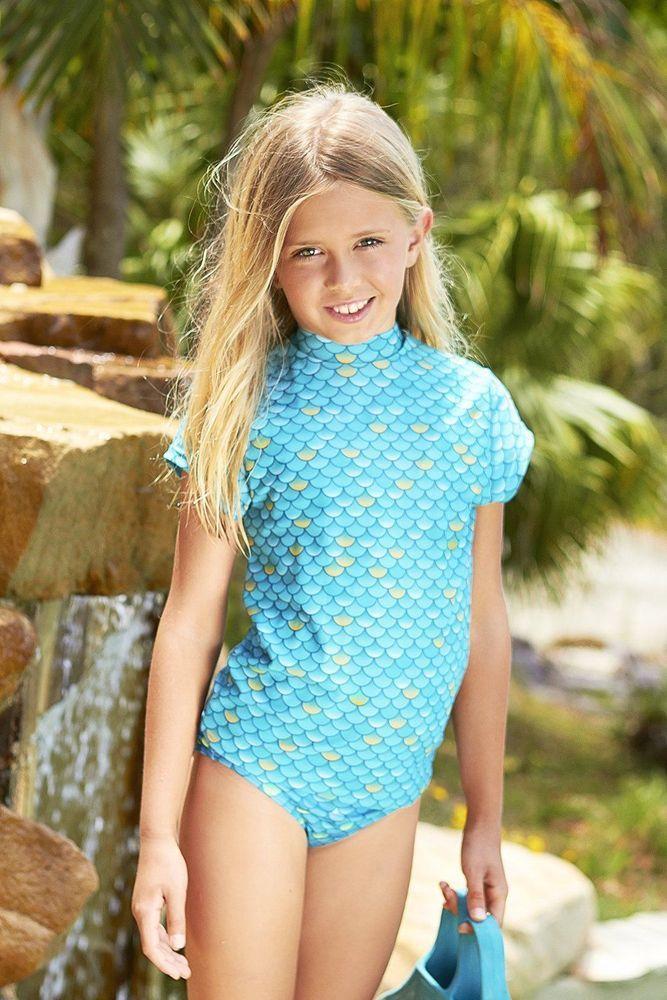 Mermaid Rash Shirt Aqua Size 10 - Beach & Pool by Mahina Mermaid (4452) #