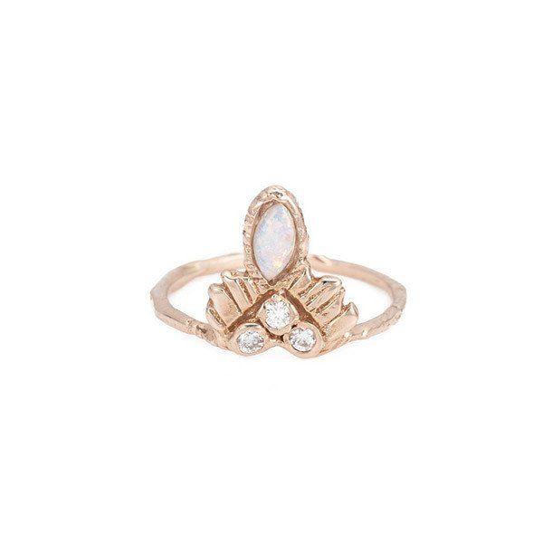 Elightened Warrior Opal Ring