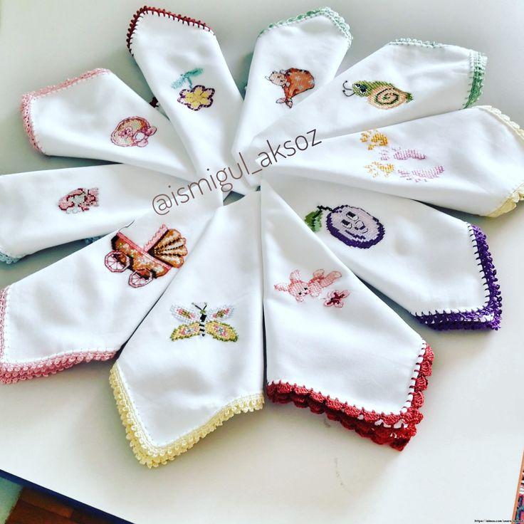 Nakışlı Bebek Mendili ,  #bebekmendili #işlemelibebekmendili #nakışmodelleri , Nakışlı bebek mendili.  ...