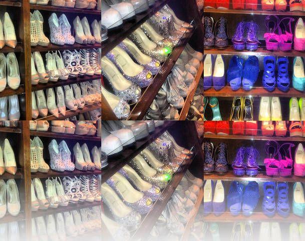 So This Is Kim Kardashians Shoe Closet We Dont See The Big