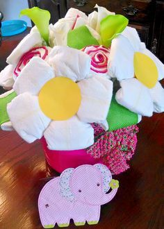 Diaper Flower Arrangement                                                                                                                                                                                 More