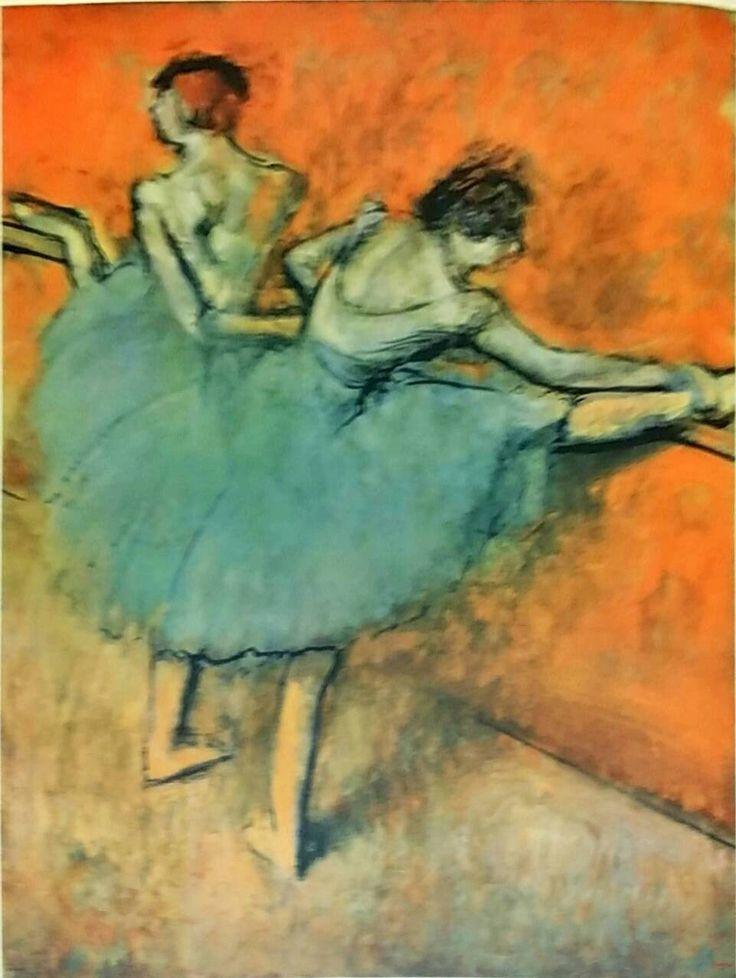 Edgar Degas Dancers At The Bar 1888 Vintage Lithograph