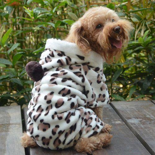 Paw Print Hoodie Dog Apparel Deals Dog Coats Cat Clothes Winter Puppy