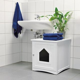The Refined Feline's Hidden Kitty Enclosed Wooden Furniture Litter Box   Overstock.com Shopping - The Best Deals on Litter Boxes