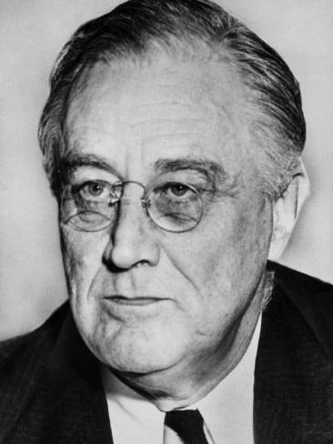 US President Franklin D. Roosevelt, Democrat,  1943