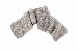 Scarf Mohair Grey - Made by Hand - Knitted