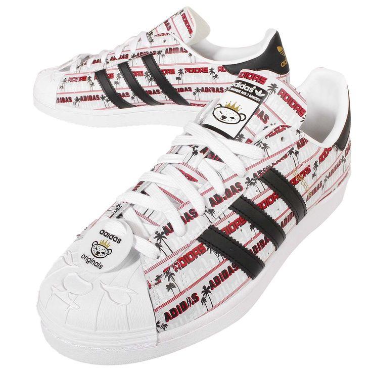 2016 Adidas Superstar Klassisch Originals NIGO Bearfoot Herren Sport Schuhe  NIGO\u2026 Adidas SuperstarAdidas OriginalsSneakerRedBlackShoes