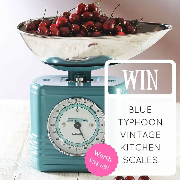 Win!    We're giving our lovely followers the chance to win a set of Typhoon Scales! All you have to do is follow us (if you already are don't worry, you're halfway there!) and like this pin.  The competition ends on Friday 22nd July and the winner will be announced on Monday 25th July and you can find all the T&Cs through this link.  So what are you waiting for? Like this pin and give us a follow and you could be baking with a lovely set of these