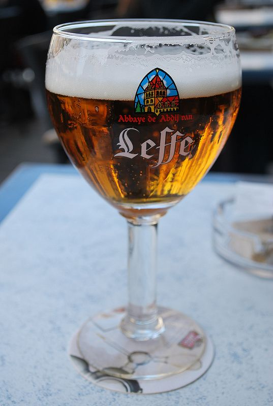 Leffe Blonde, my new favorite Belgian beer. (Confession: I didn't have an old favorite.)