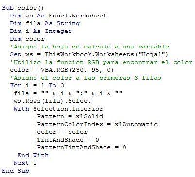 MACROS Y MACROS: USO FUNCION RGB EN VBA