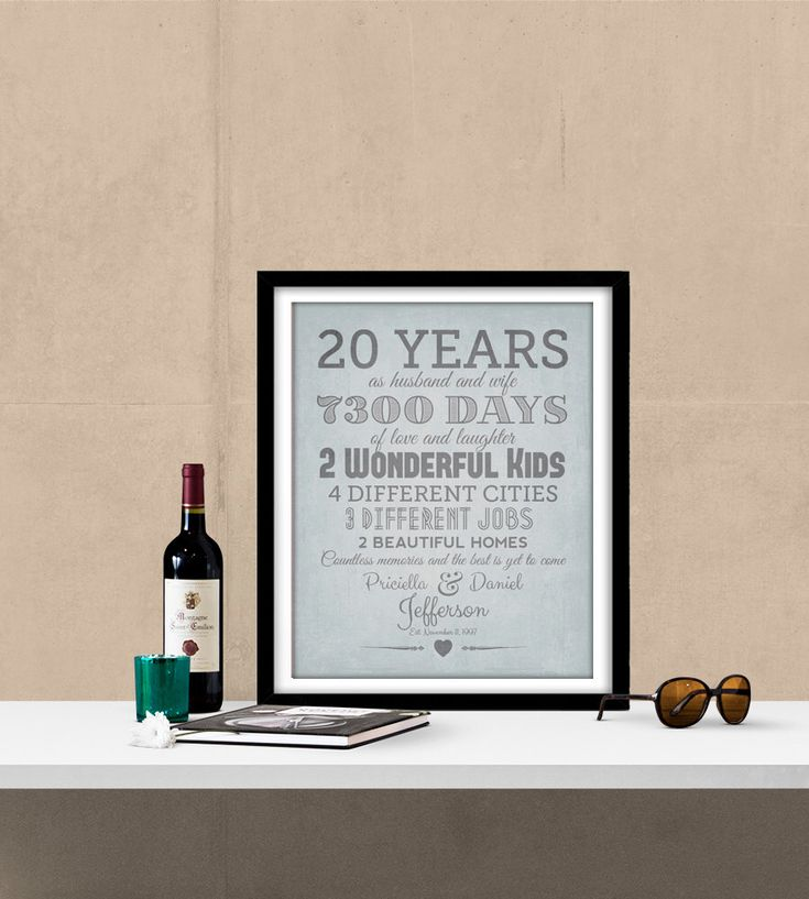 The 25+ best 20th anniversary gifts ideas on Pinterest | 20th ...