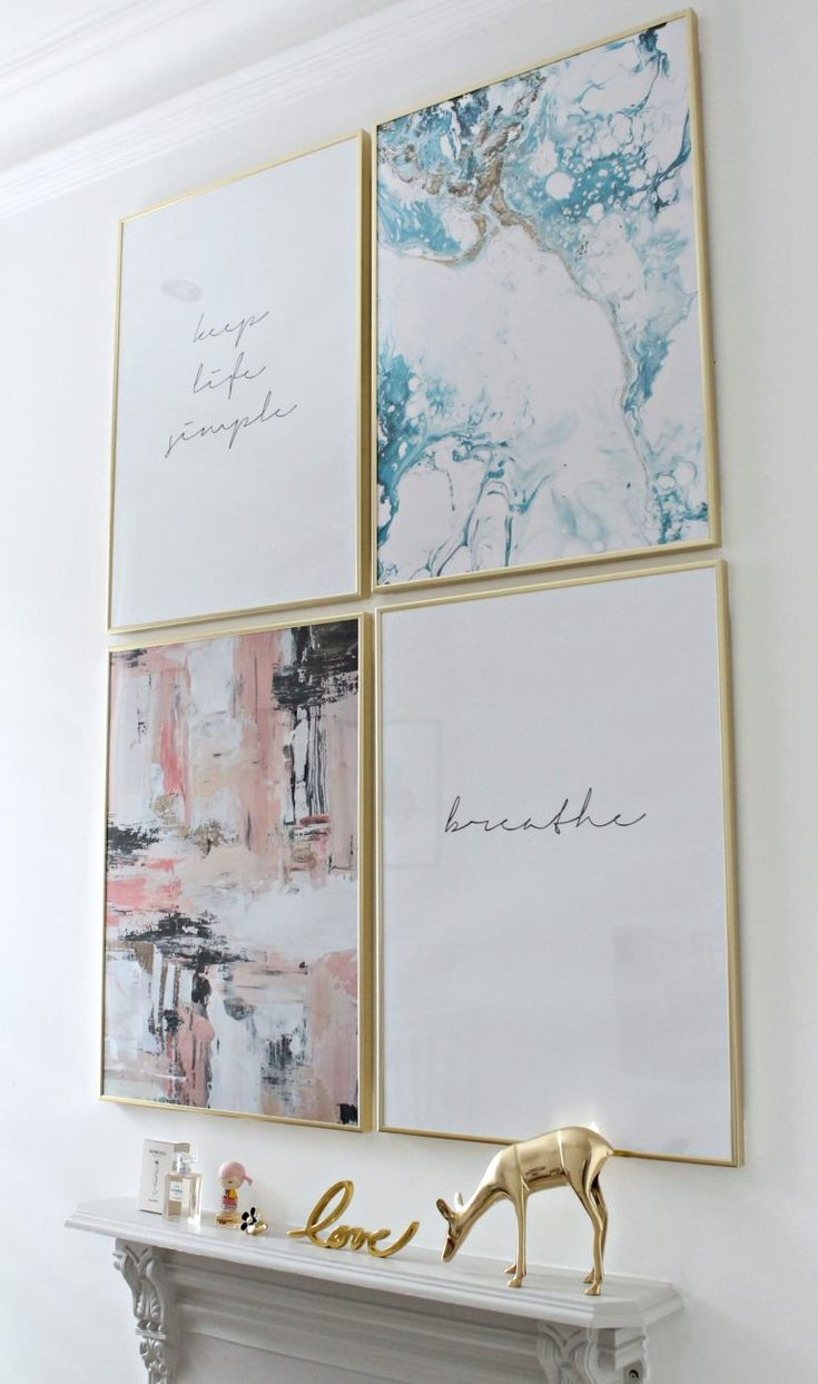 Four metallic frames