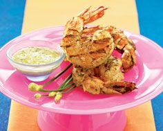 Grilled Coconut Shrimp (On Bamboo Skewers)
