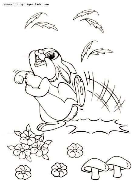 thumper bambi color page disney coloring pages color plate coloring sheet